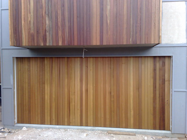 Recessed Timber Tilt Door6 Pt Lonsdale Garage doors
